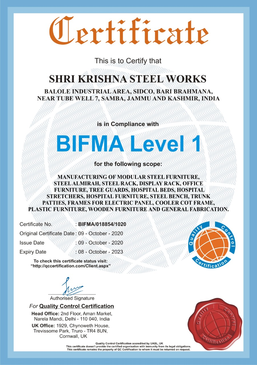 certificate-bifma-level1